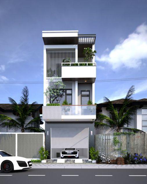 Bộ sưu tập những thiết kế nhà 3 tầng đẹp nhất - Mẫu 4