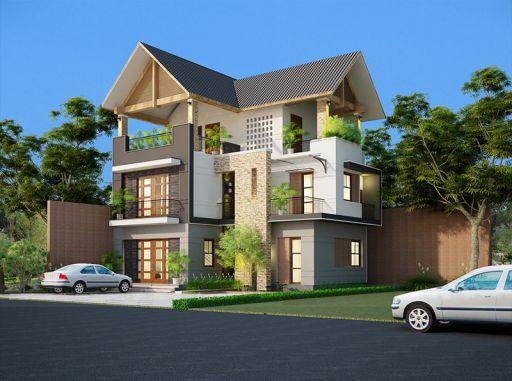 Bộ sưu tập những thiết kế nhà 3 tầng đẹp nhất - Mẫu 6