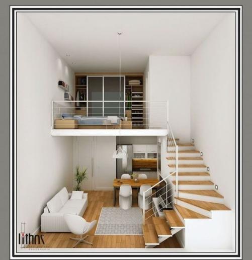 Phối cảnh nội thất bên trong mẫu nhà cấp 4 có gác lửng giá rẻ chỉ 200 triệu sắp xếp không gian vô cùng tiện nghi và sang trọng