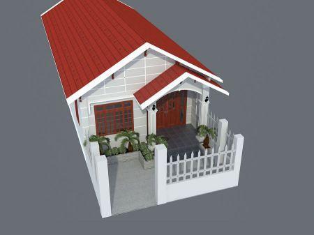 Thiết kế nhà cấp 4 mái tôn giá rẻ diện tích 30m2
