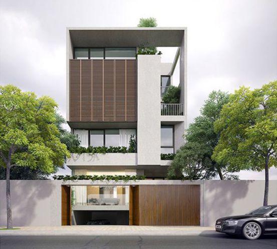 Xu hướng kiến trúc nhà phố mặt tiền 7m