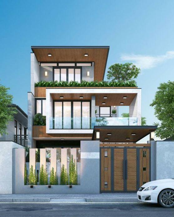 Xu hướng kiến trúc nhà phố mặt tiền 8m