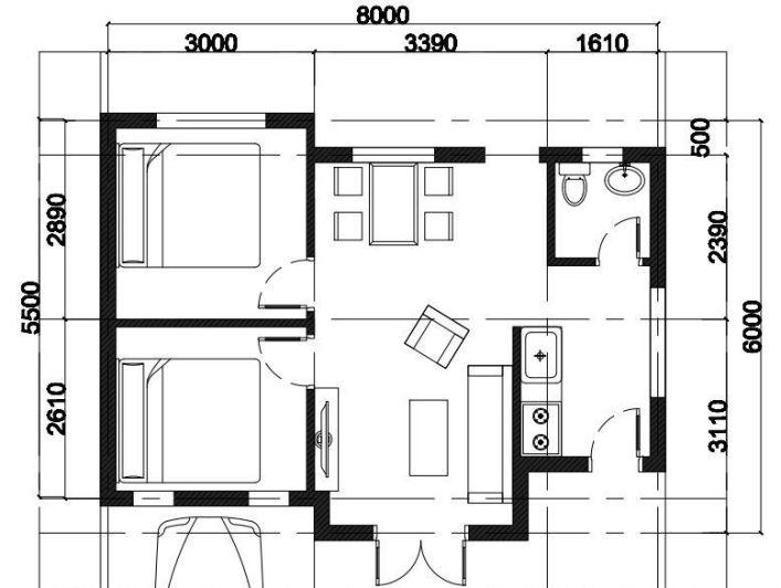 Chi tiết bản vẽ thiết kế nhà cấp 4 đẹp tầm 150 triệu