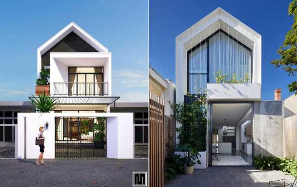 Thiết kế kiến trúc nhà 1 trệt 1 lầu đẹp nhất hiện nay