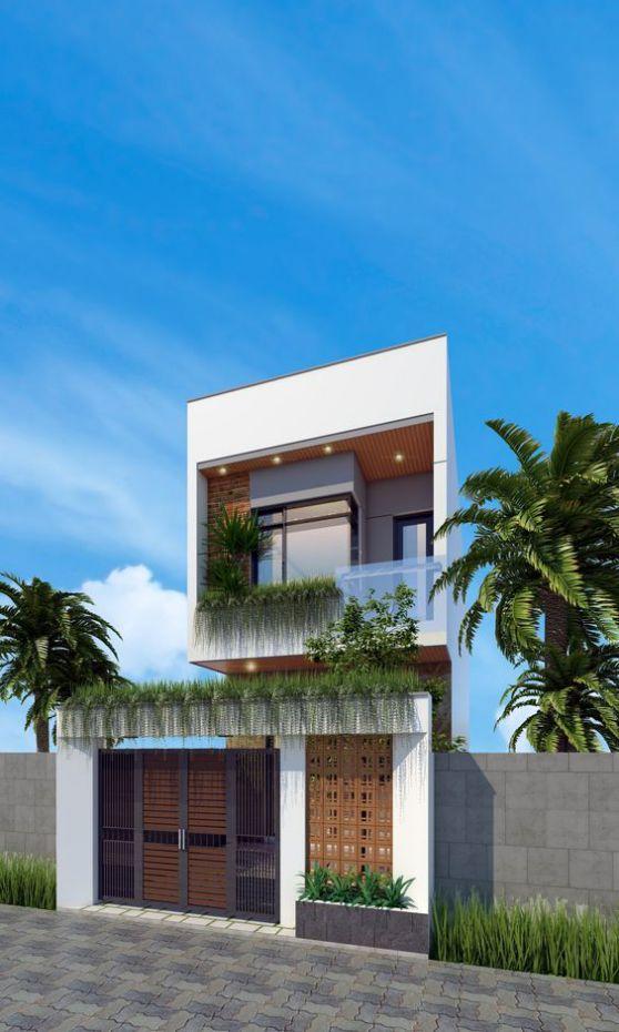 Xu hướng thiết kế nhà 2 tầng chi phí xây dựng 600 triệu đồng