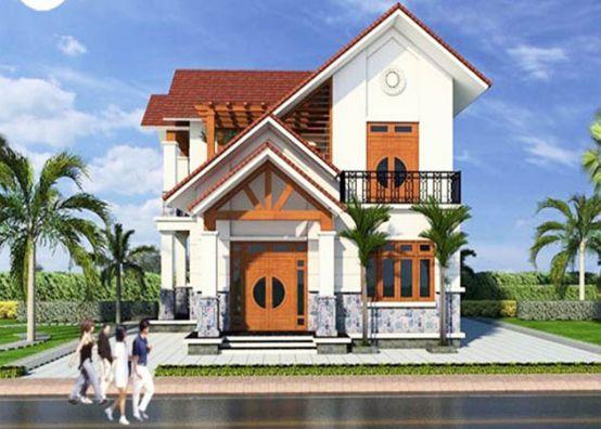 Xu hướng thiết kế nhà 2 tầng chi phí xây dựng 800 triệu đồng