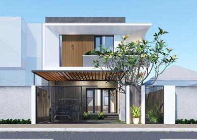 Xu hướng thiết kế nhà 2 tầng mái bằng đẹp nhất hiện nay