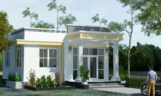 Tuyển chọn 3 mẫu thiết kế nhà cấp 4 mái bằng có 2 phòng ngủ - Hình 1