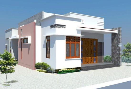 Tuyển chọn 3 mẫu thiết kế nhà cấp 4 mái bằng có 2 phòng ngủ - Hình 3