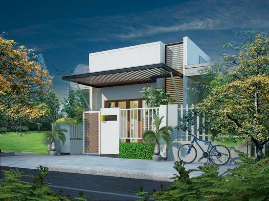 Các mẫu thiết kế nhà cấp 4 mái bằng diện tích 5x20m - Hình 2