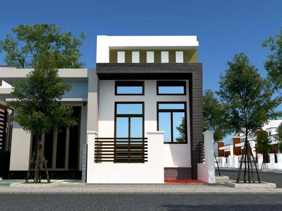 Nới rộng không gian với mẫu nhà cấp 4 mái bằng có gác lửng hiện đại - Hình 1