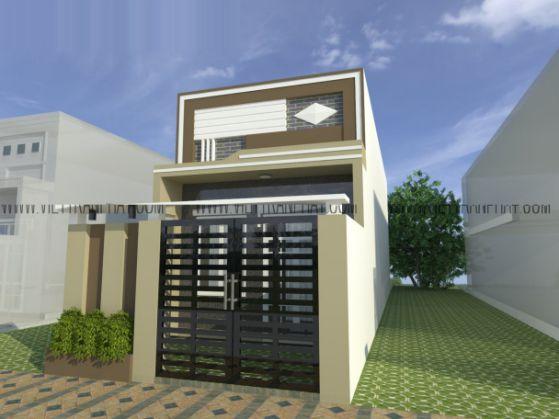Nới rộng không gian với mẫu nhà cấp 4 mái bằng có gác lửng hiện đại - Hình 3