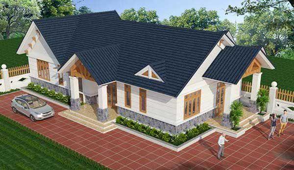 Mẫu thiết kế nhà cấp 4 mái thái đẹp diện tích 100m2 - Hình 2