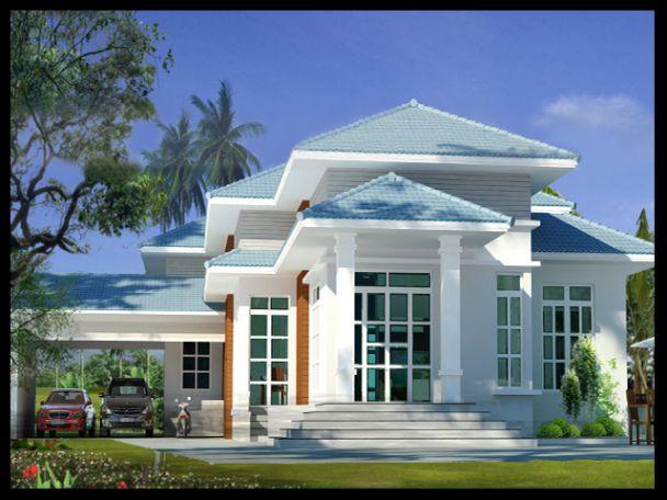 Mẫu thiết kế nhà cấp 4 mái thái đẹp diện tích 100m2 - Hình 3