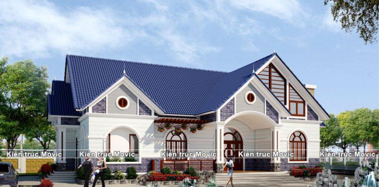 Mẫu thiết kế nhà cấp 4 mái thái đẹp diện tích 100m2 - Hình 4