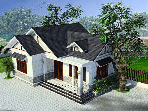 Thiết kế kiến trúc nhà cấp 4 mái thái diện tích 100m2