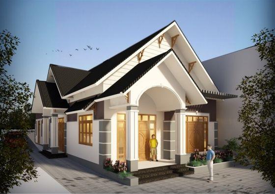 Thiết kế kiến trúc nhà cấp 4 mái thái giá rẻ 300 triệu đồng