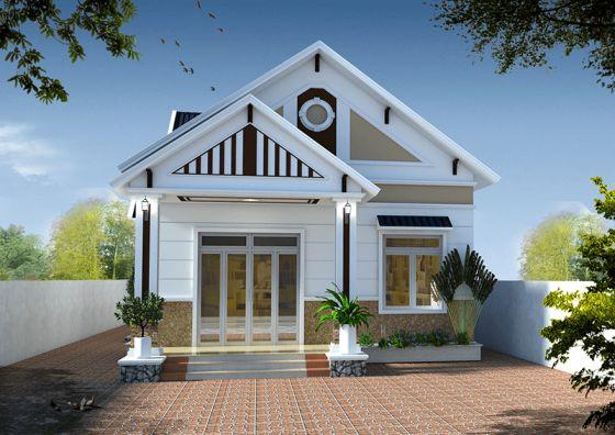 Thiết kế kiến trúc nhà cấp 4 mái thái giá rẻ 400 triệu đồng