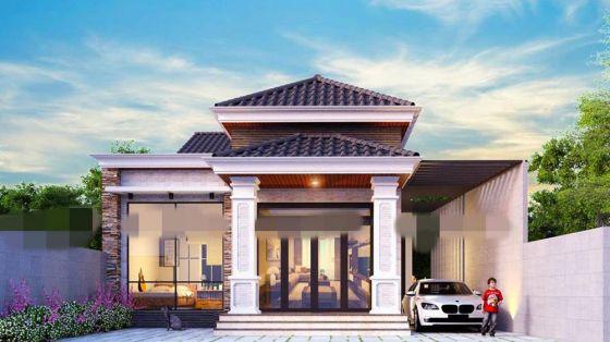 Thiết kế kiến trúc nhà cấp 4 mái thái giá rẻ 500 triệu đồng
