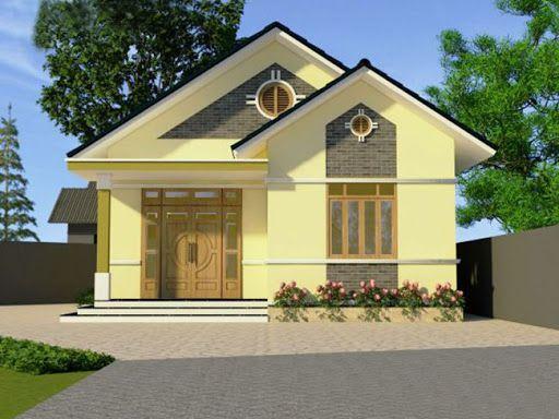 Thiết kế kiến trúc nhà cấp 4 mái thái diện tích 80m2