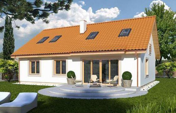 Thiết kế kiến trúc nhà cấp 4 mái thái lợp mái tôn đẹp