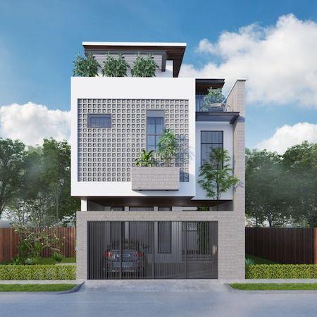 Phong cách mặt tiền nhà phố 2 tầng 5m