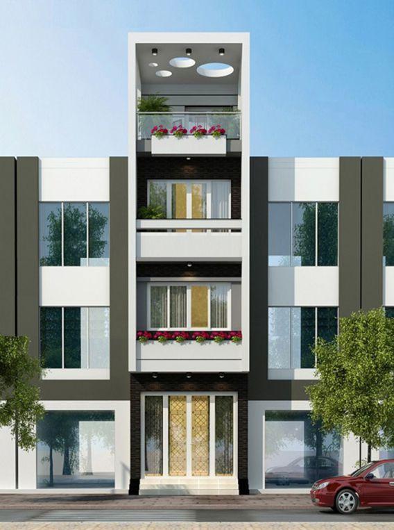 Mặt tiền nhà phố 3 tầng 3m