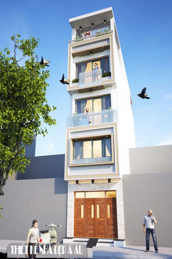 Mặt tiền nhà phố 4 tầng 3m