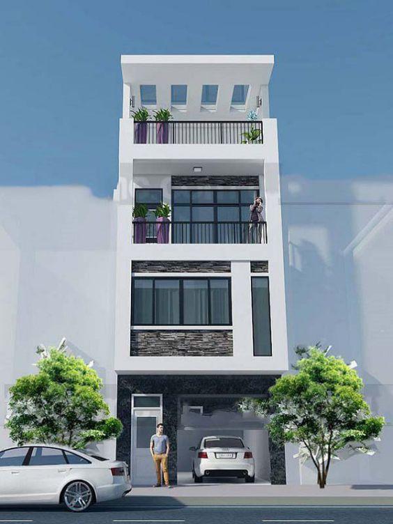 Mặt tiền nhà phố 4 tầng 4m cực đẹp