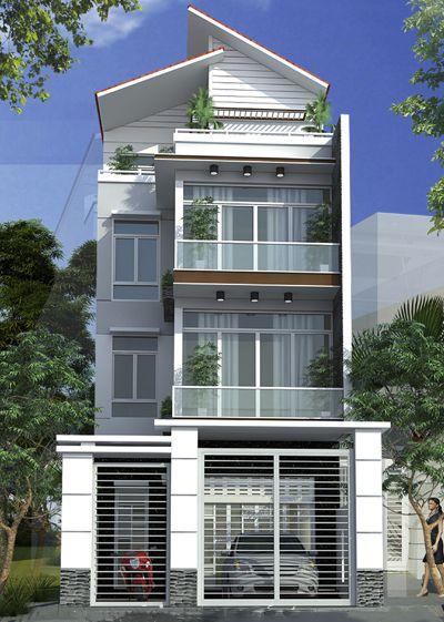 Phong cách mặt tiền nhà phố 4 tầng 5m