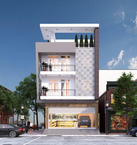 Tuyển chọn mặt tiền nhà phố 4 tầng 8m