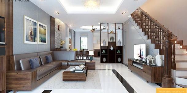 Xu hướng mẫu phòng khách rộng 25m2 đẹp