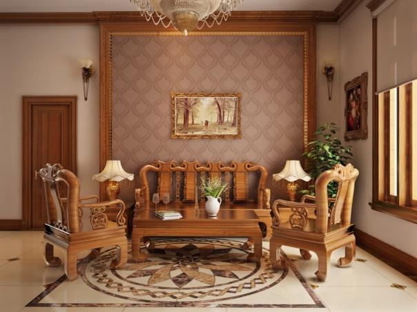 Ngắm nhìn mẫu phòng khách nội thất bằng gỗ