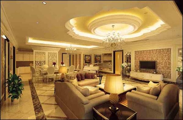 Mẫu thiết kế phòng khách dành cho căn biệt thự đẹp - Hình 2