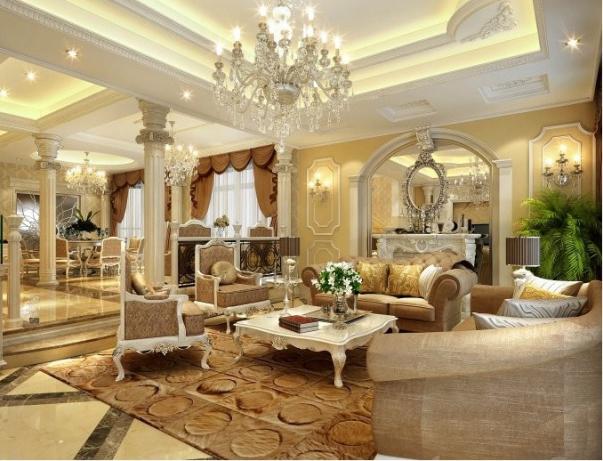 Mẫu thiết kế phòng khách dành cho căn biệt thự đẹp - Hình 3
