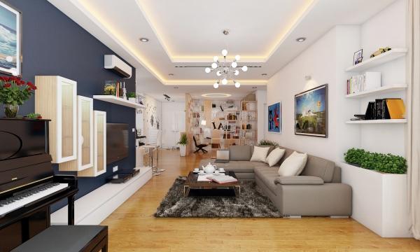 Mẫu thiết kế phòng khách dành cho căn căn hộ chung cư - Hình 1