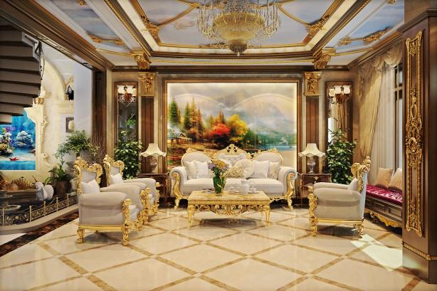 Chiêm ngưỡng mẫu phòng khách đẹp cổ điển