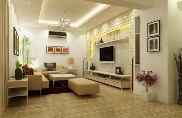 Mẫu thiết kế phòng khách đơn giản mà đẹp - Hình 2
