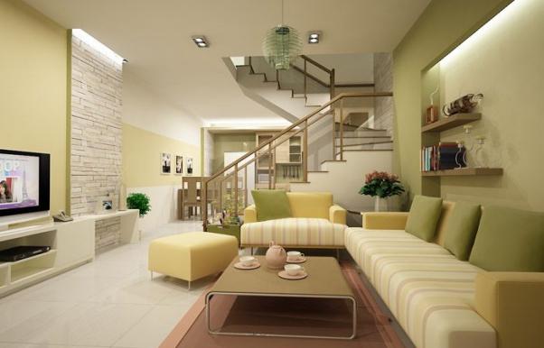 Mẫu thiết kế phòng khách đơn giản mà đẹp - Hình 3