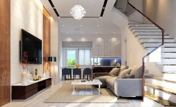 Mẫu thiết kế phòng khách phong cách hiện đại - Ảnh 1