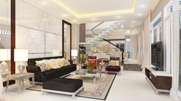 Mẫu thiết kế phòng khách phong cách hiện đại - Ảnh 2