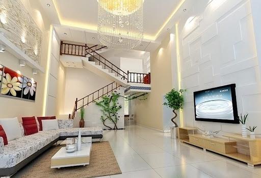 Mẫu thiết kế phòng khách phong cách hiện đại - Ảnh 3