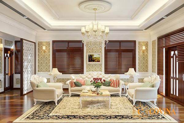 Xu hướng mẫu phòng khách kiểu châu âu đẹp