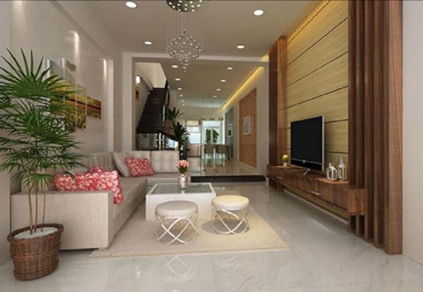 Mẫu thiết kế phòng khách dành cho căn nhà ống đẹp - Hình 1