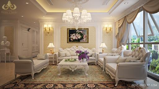 Mẫu thiết kế phòng khách phong cách cổ điển đẹp - Hình 3
