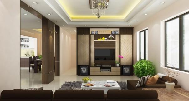Xu hướng mẫu phòng khách trần thạch cao đẹp