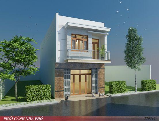 Mẫu thiết kế nhà 1 trệt 1 lầu giá rẻ 300 triệu đồng