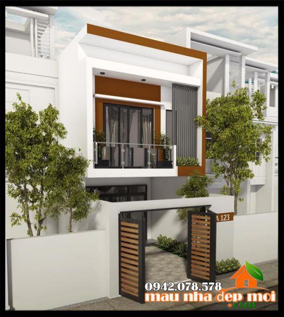 Mẫu thiết kế nhà 1 trệt 1 lầu diện tích 5x15m