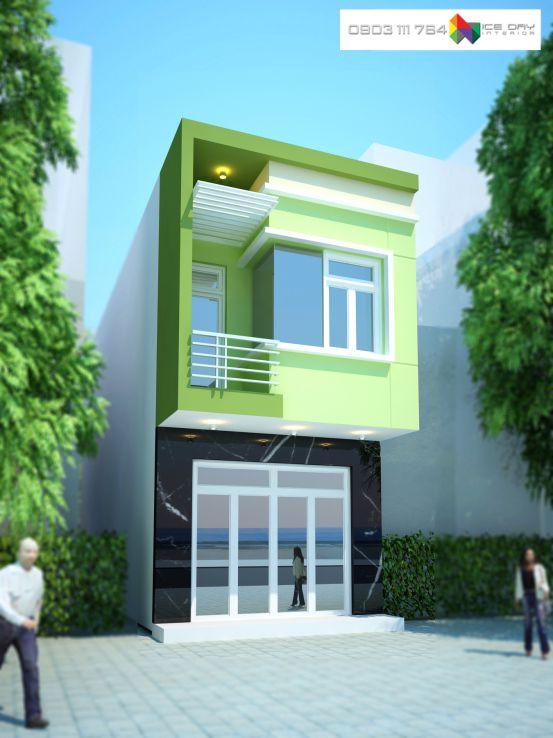 Mẫu thiết kế nhà 1 trệt 1 lầu diện tích 5x16m