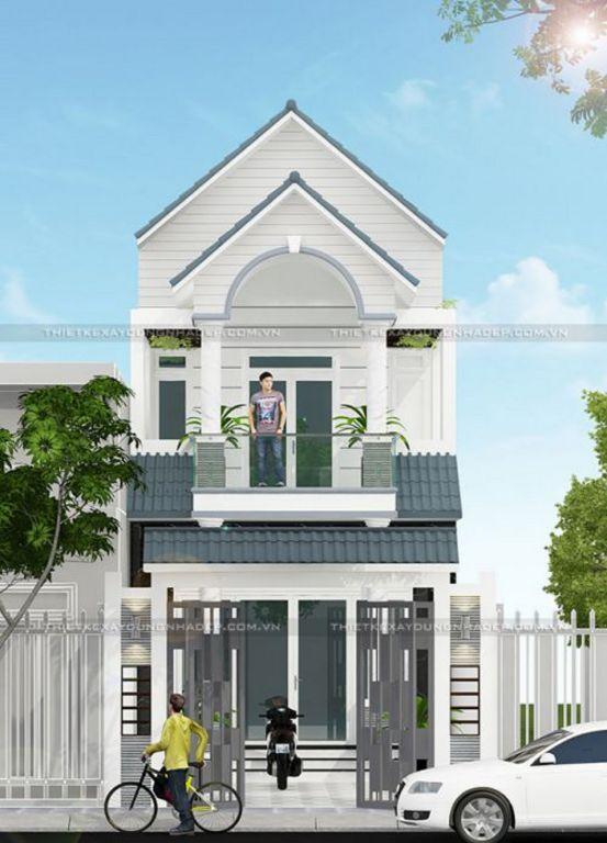 Mẫu thiết kế nhà 1 trệt 1 lầu giá rẻ 600 triệu đồng